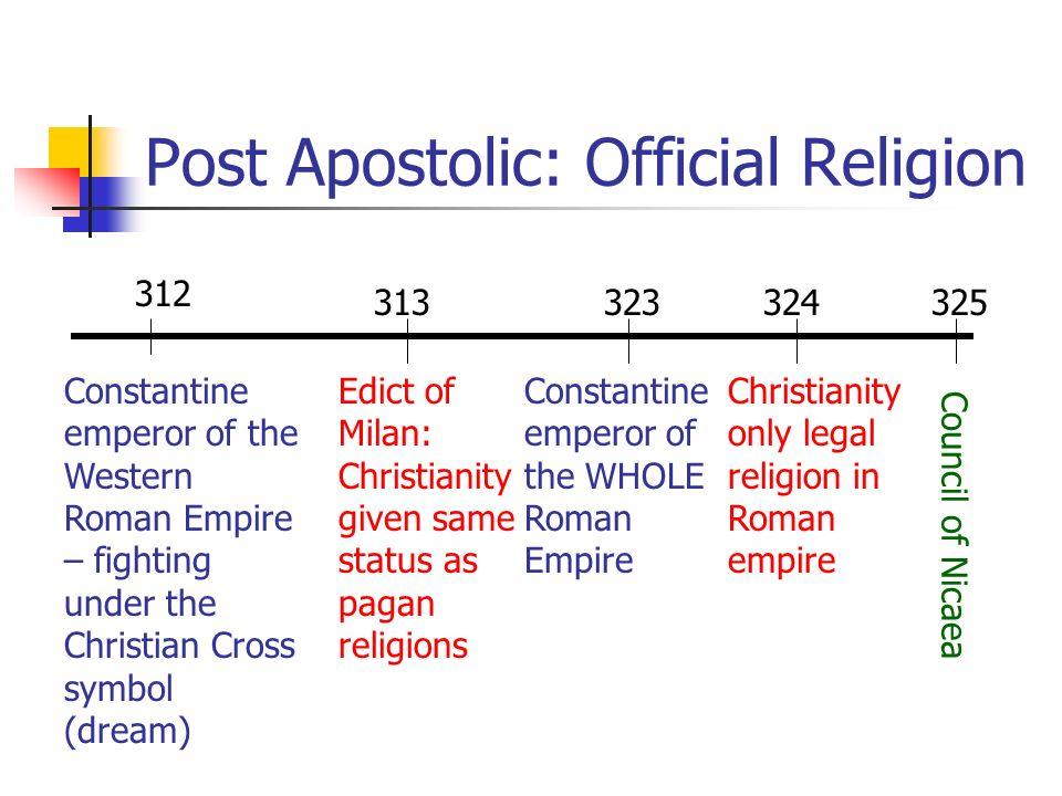 Post Apostolic: Official Religion