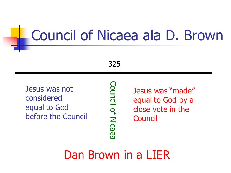 Council of Nicaea ala D. Brown