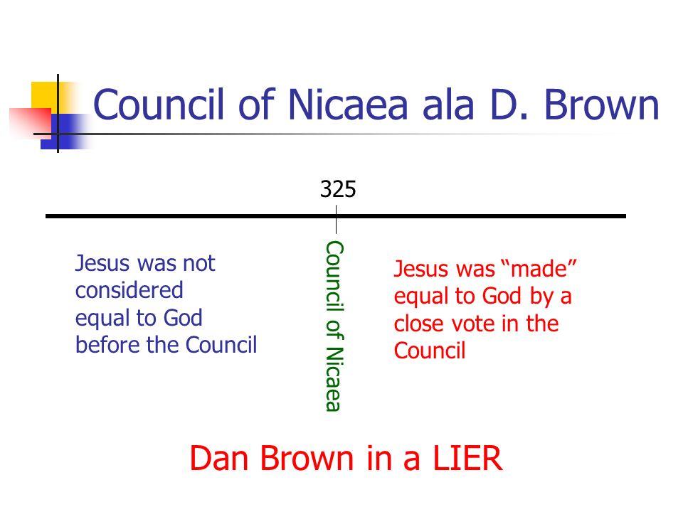 Council of Nicaea ala D. Brown