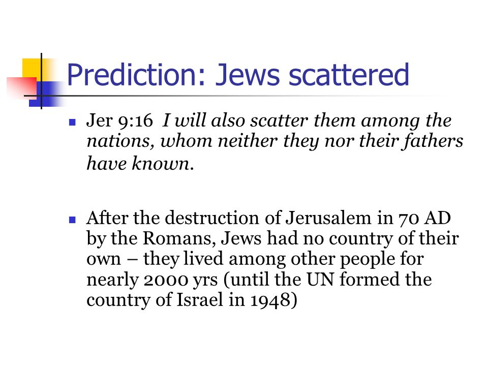 Prediction: Jews scattered