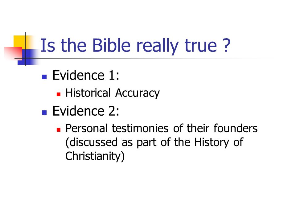 Is the Bible really true