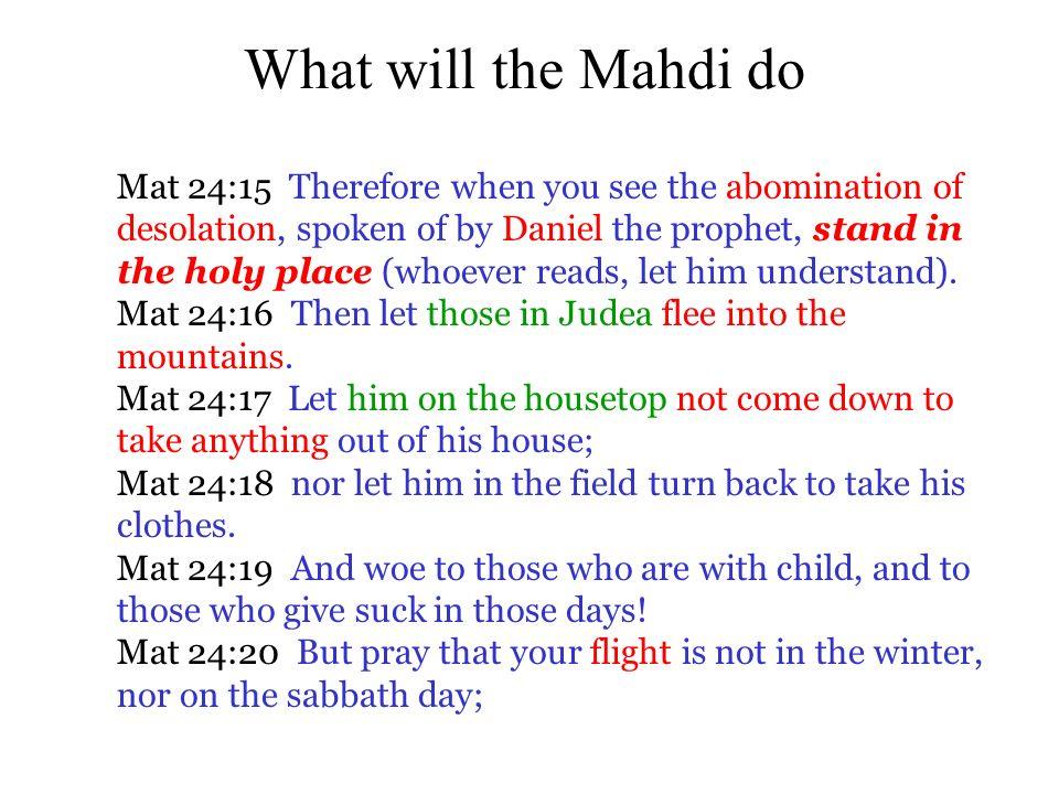 What will the Mahdi do