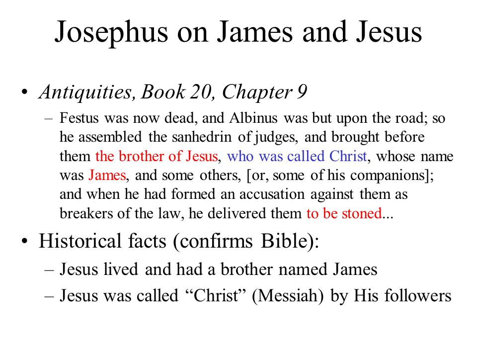 Josephus on James and Jesus