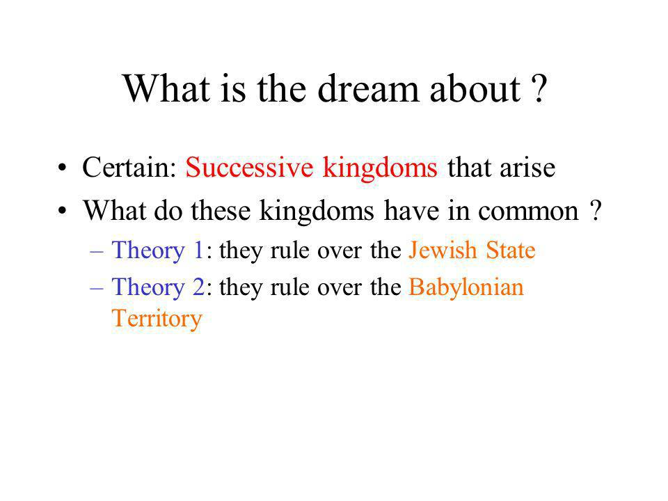 What is the dream about Certain: Successive kingdoms that arise
