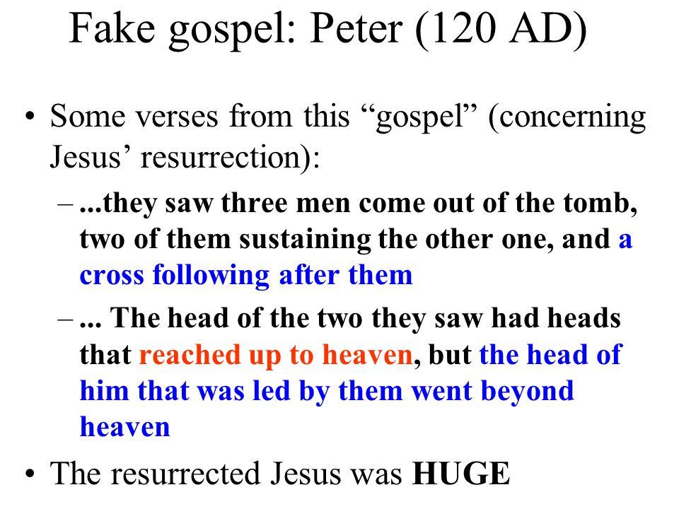Fake gospel: Peter (120 AD)