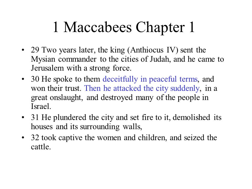 1 Maccabees Chapter 1