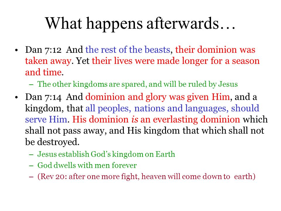 What happens afterwards…