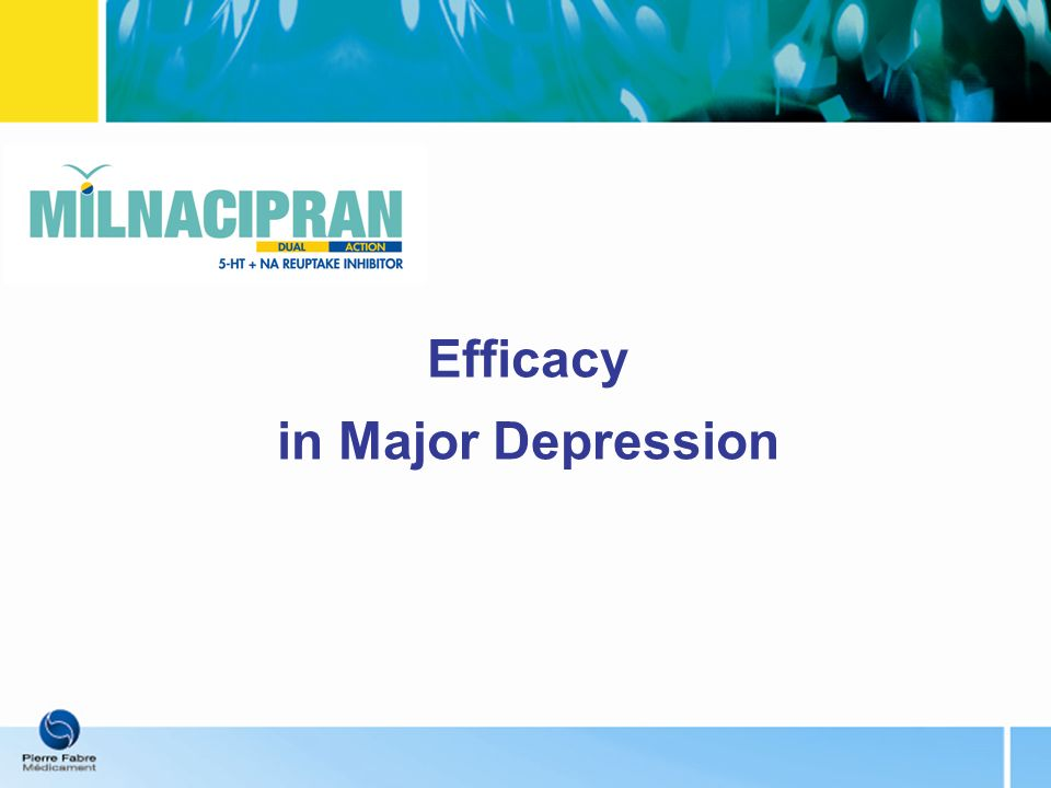 Efficacy in Major Depression