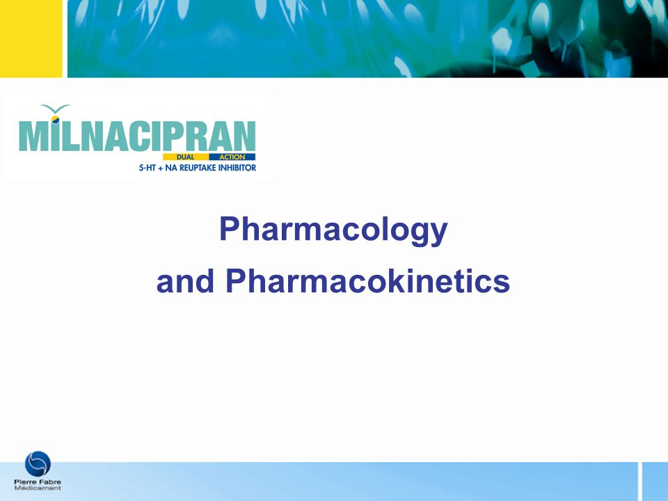 Pharmacology and Pharmacokinetics