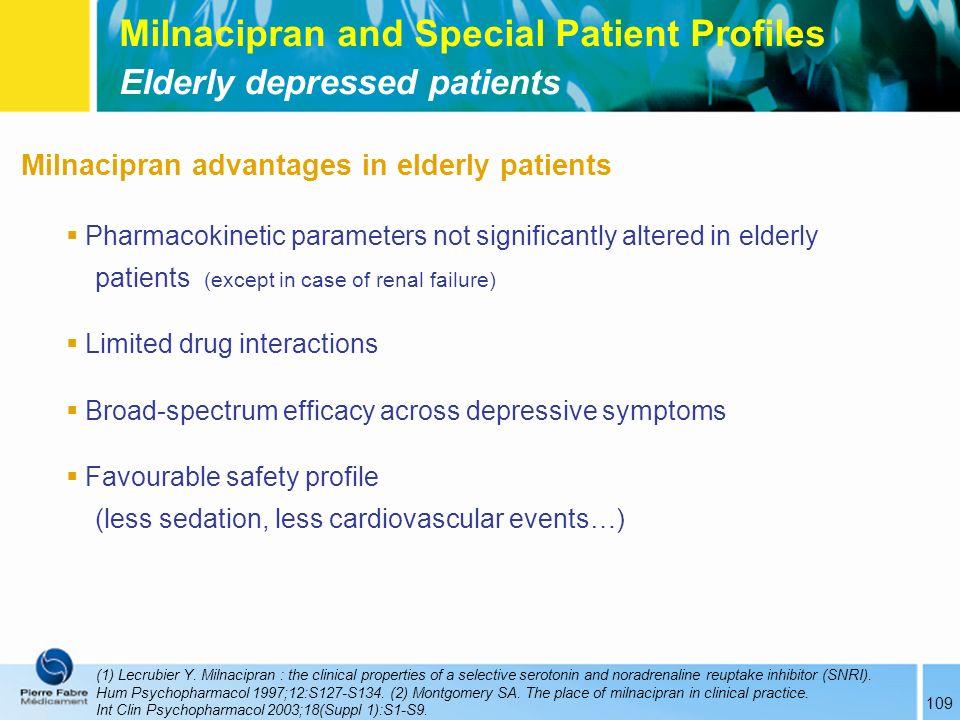 Milnacipran and Special Patient Profiles