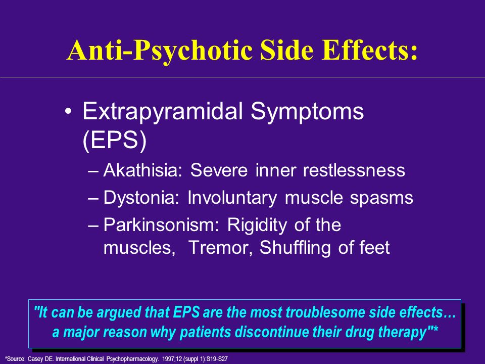 Anti-Psychotic Side Effects: