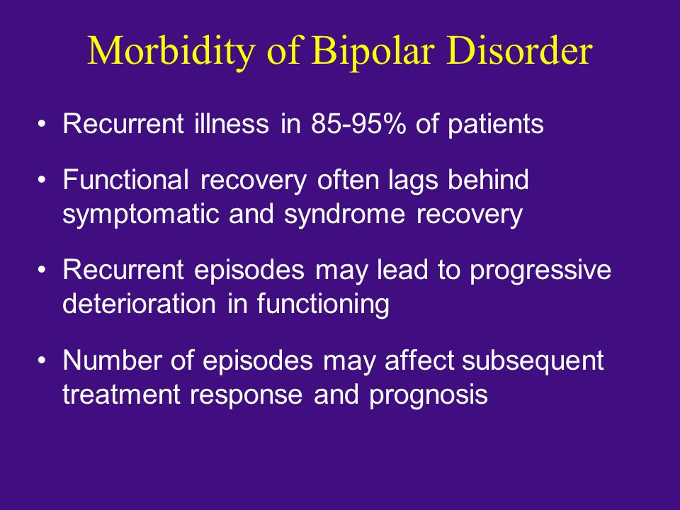 Morbidity of Bipolar Disorder