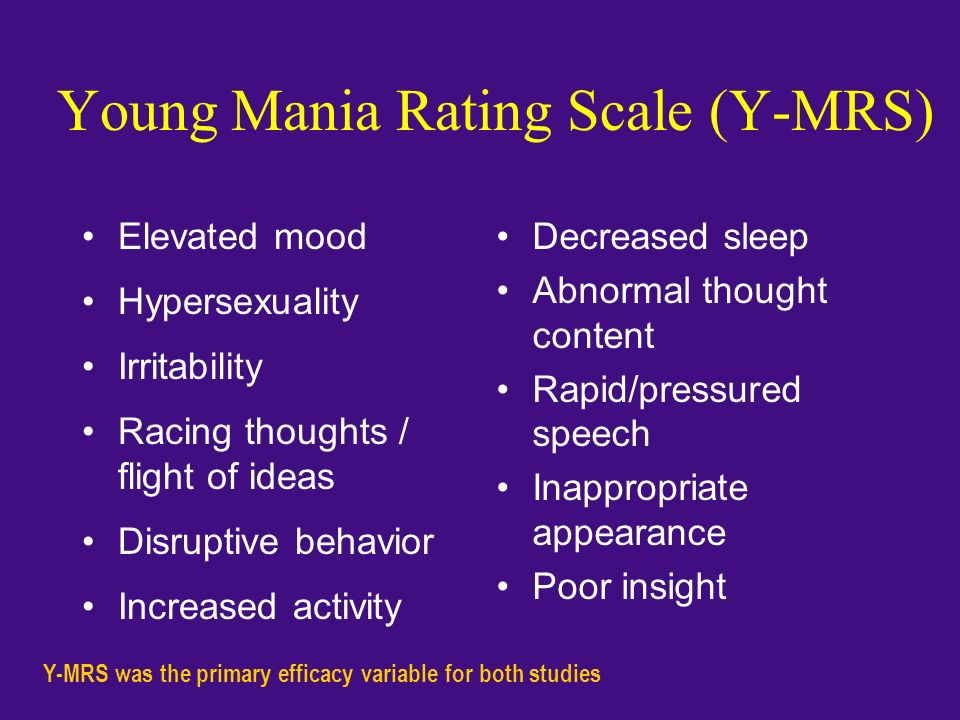 Young Mania Rating Scale (Y-MRS)