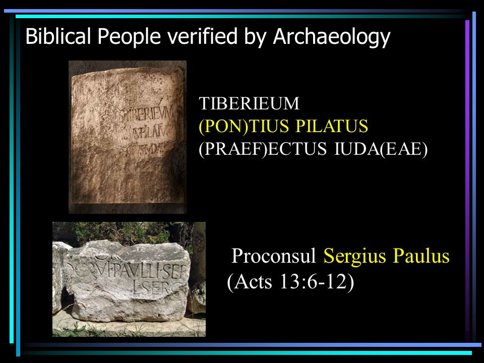 Biblical People verified by Archaeology