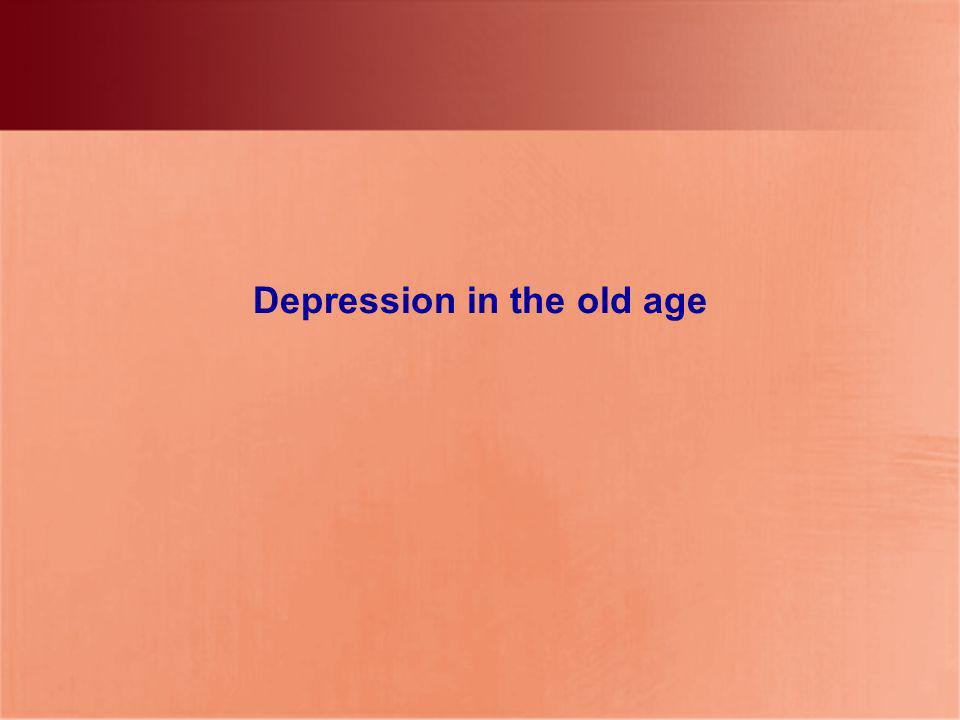 Depression in the old age