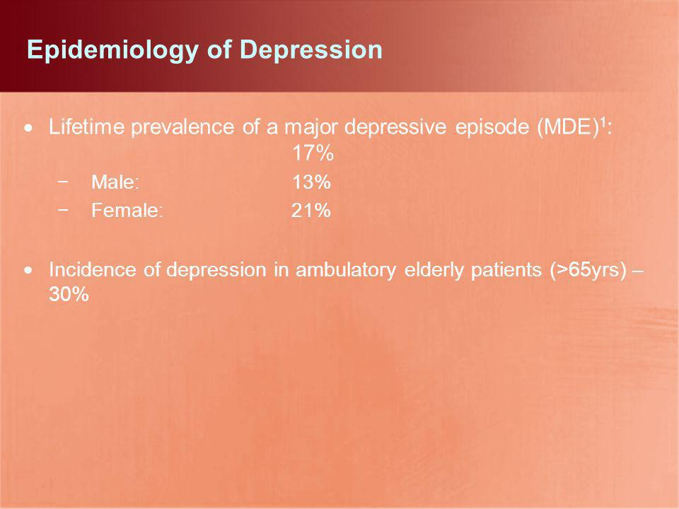 Epidemiology of Depression