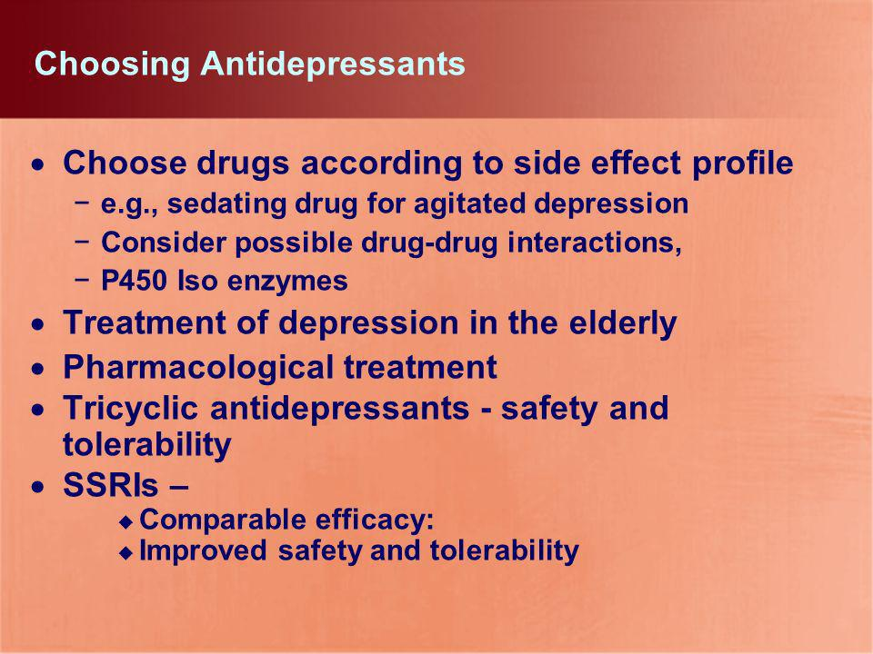 Choosing Antidepressants