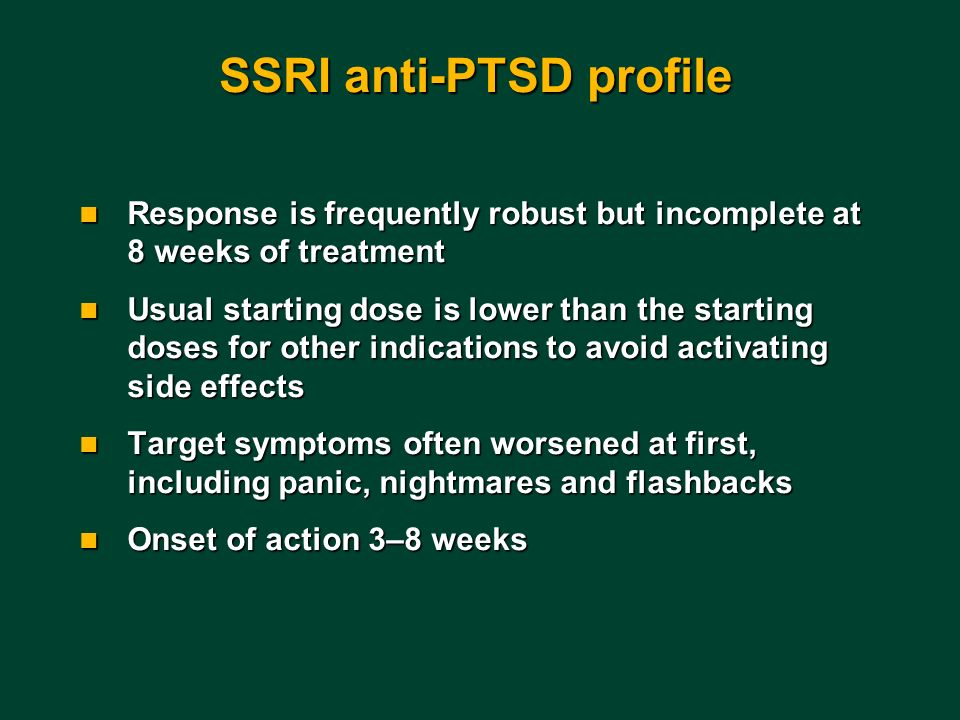 SSRI anti-PTSD profile