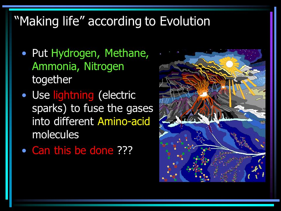 Making life according to Evolution