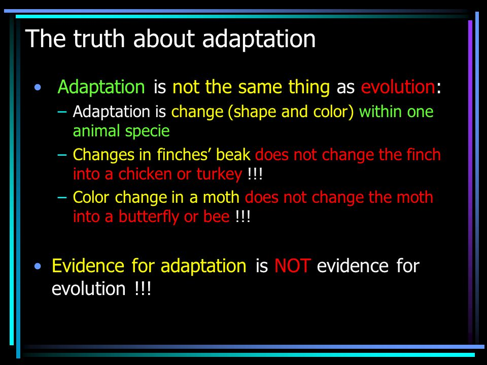 The truth about adaptation
