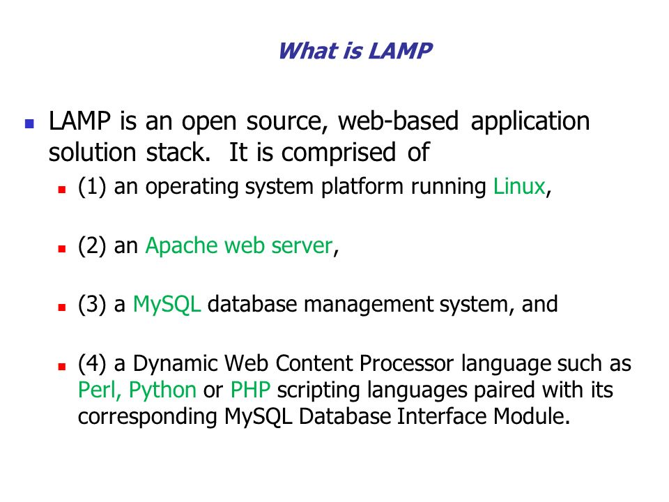 4 What Is LAMP ...
