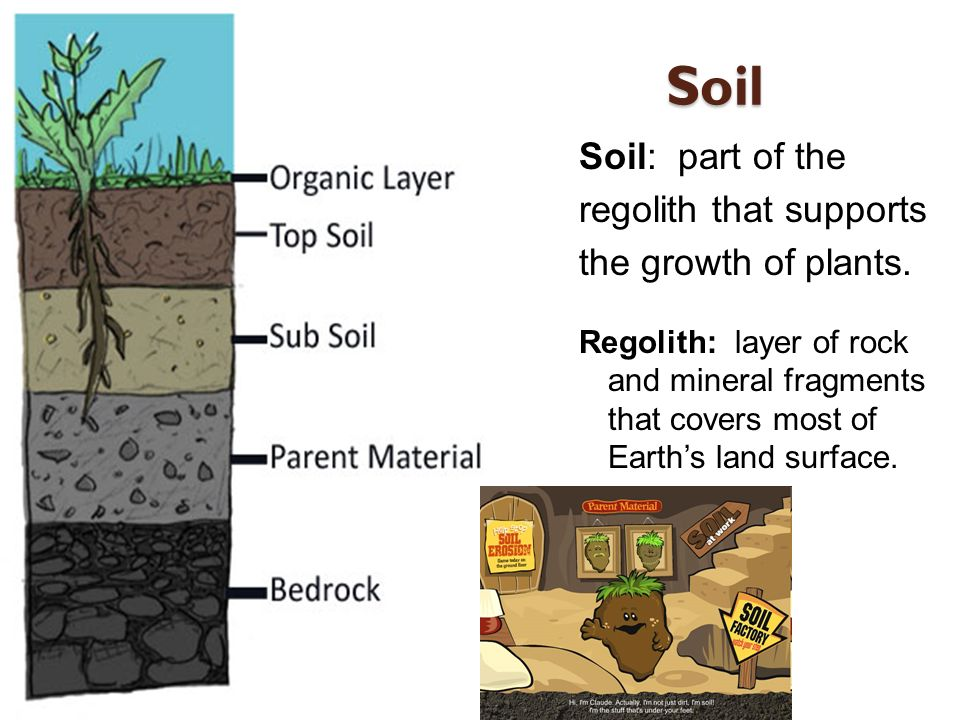 Weathering soil and mass movement ppt video online for Mineral soil definition