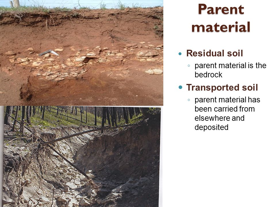 Weathering soil and mass movement ppt video online for Soil material