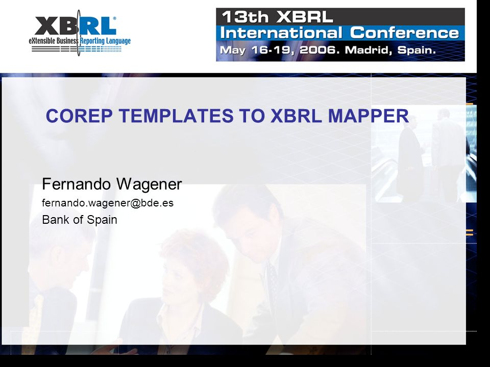 COREP TEMPLATES TO XBRL MAPPER