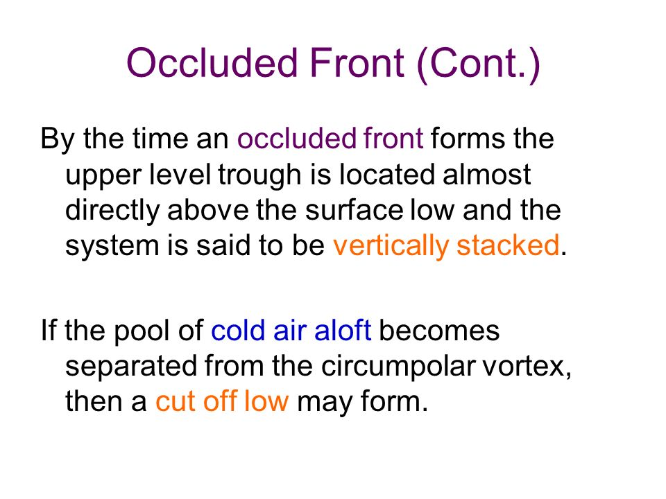 Formation of the Extratropical Cyclone (Cyclogenesis) - ppt video ...
