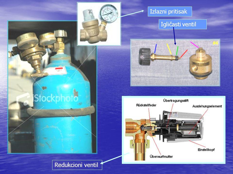 Izlazni pritisak Igličasti ventil Redukcioni ventil