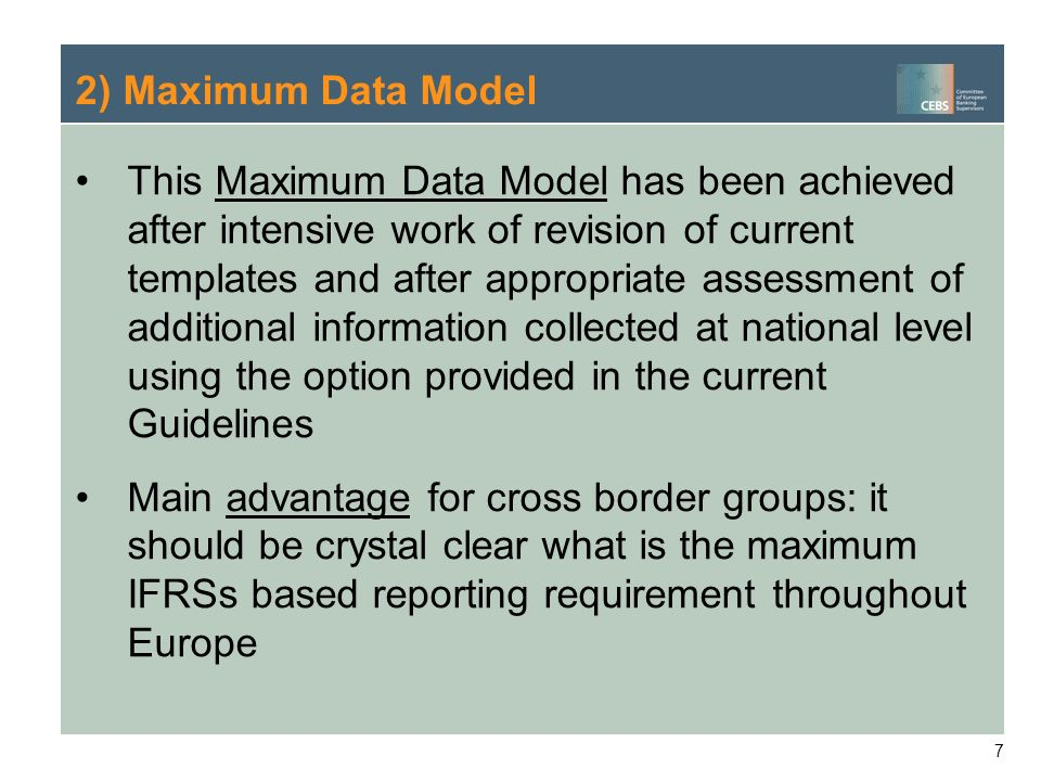 2) Maximum Data Model