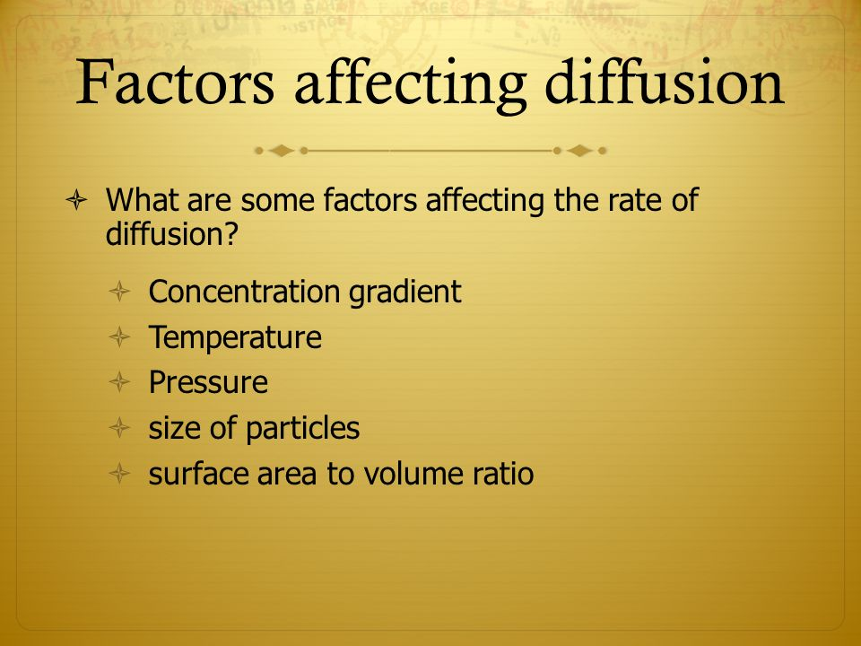 does surface area affect rate osmosis Osmosis is the net movement of water molecules across a partially how does surface area to vol ratio affect diff, os cd don't affect the rate of at.