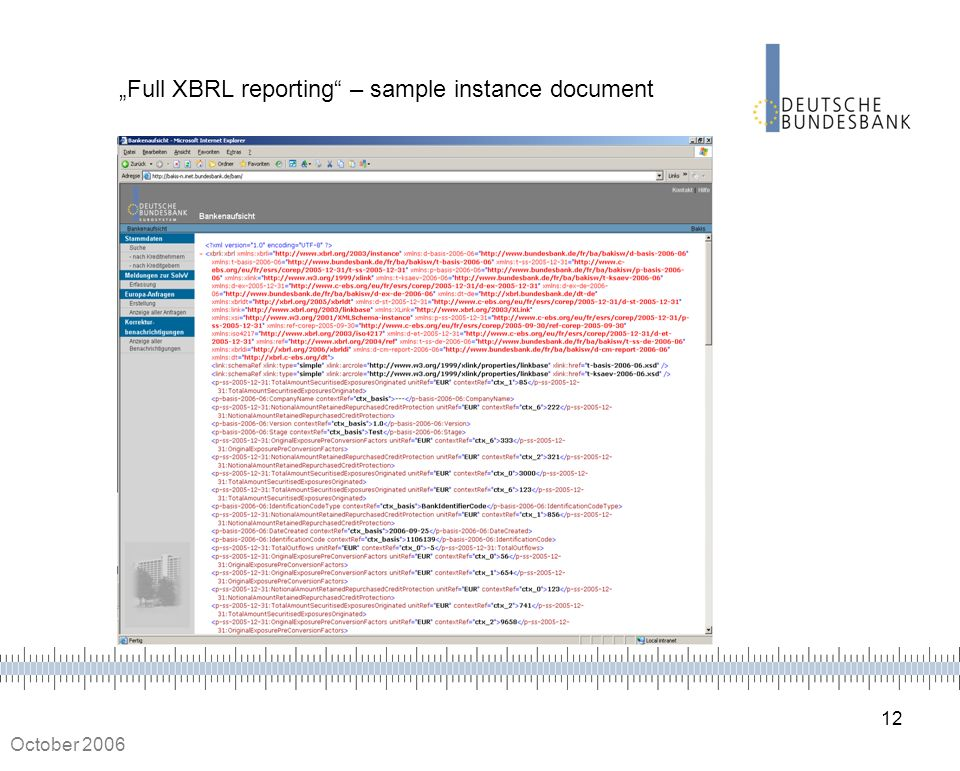 """Full XBRL reporting – sample instance document"