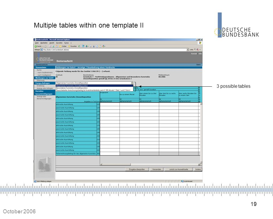 Multiple tables within one template II