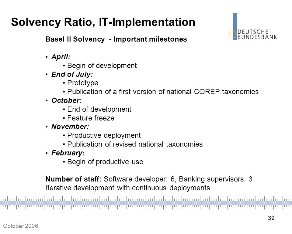 Solvency Ratio, IT-Implementation