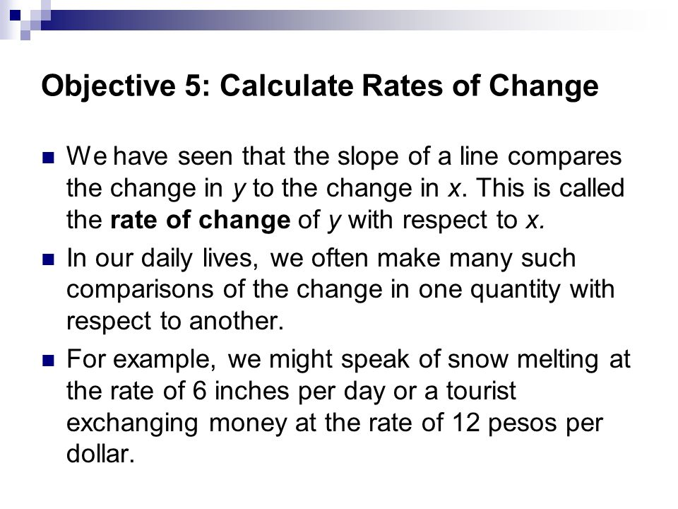 Slope And Rate Of Change Ppt Video Online Download