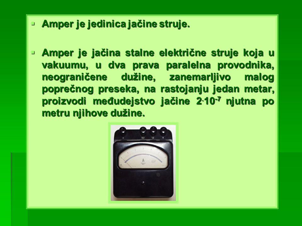 Amper je jedinica jačine struje.