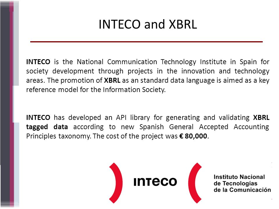 INTECO and XBRL