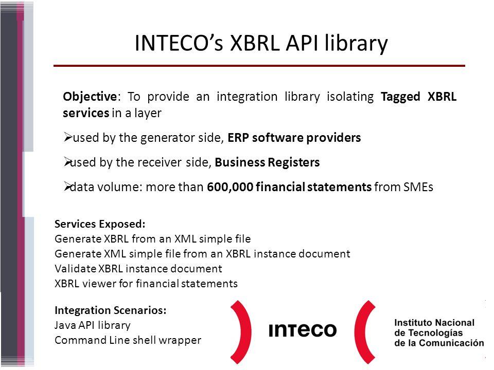 INTECO's XBRL API library