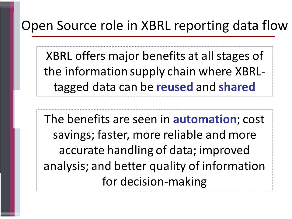 Open Source role in XBRL reporting data flow