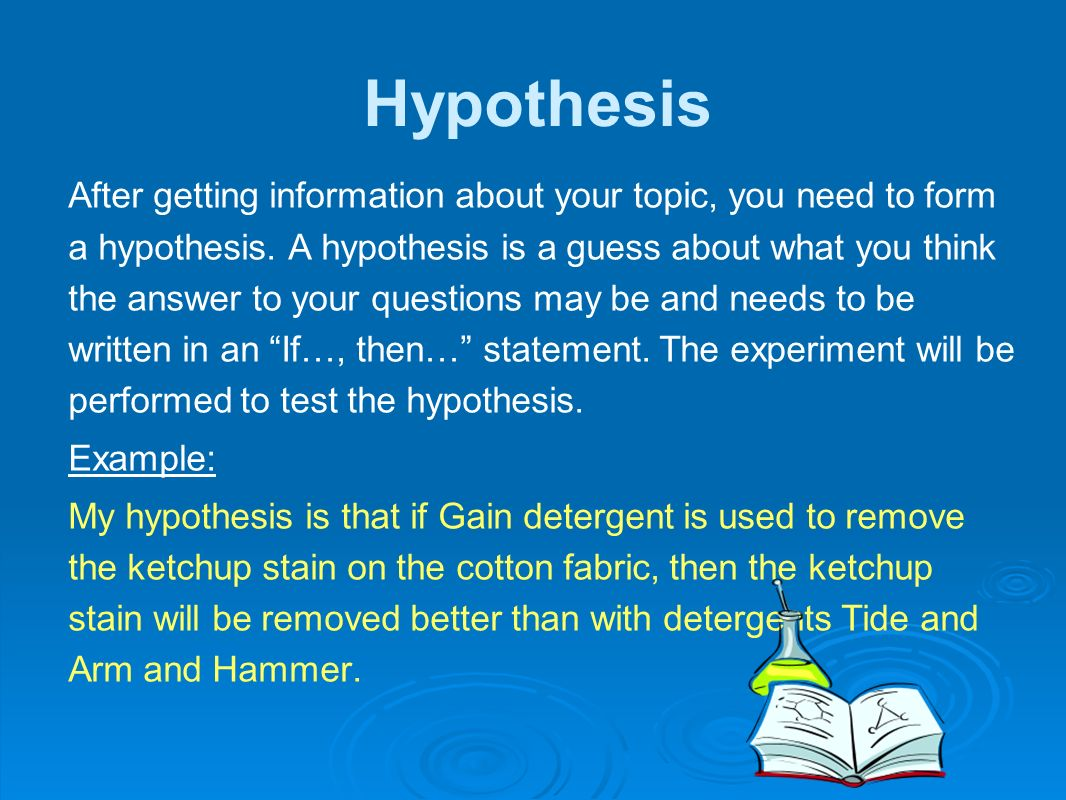 the hypthesis The null hypothesis is a hypothesis which the researcher tries to disprove, reject or nullify.