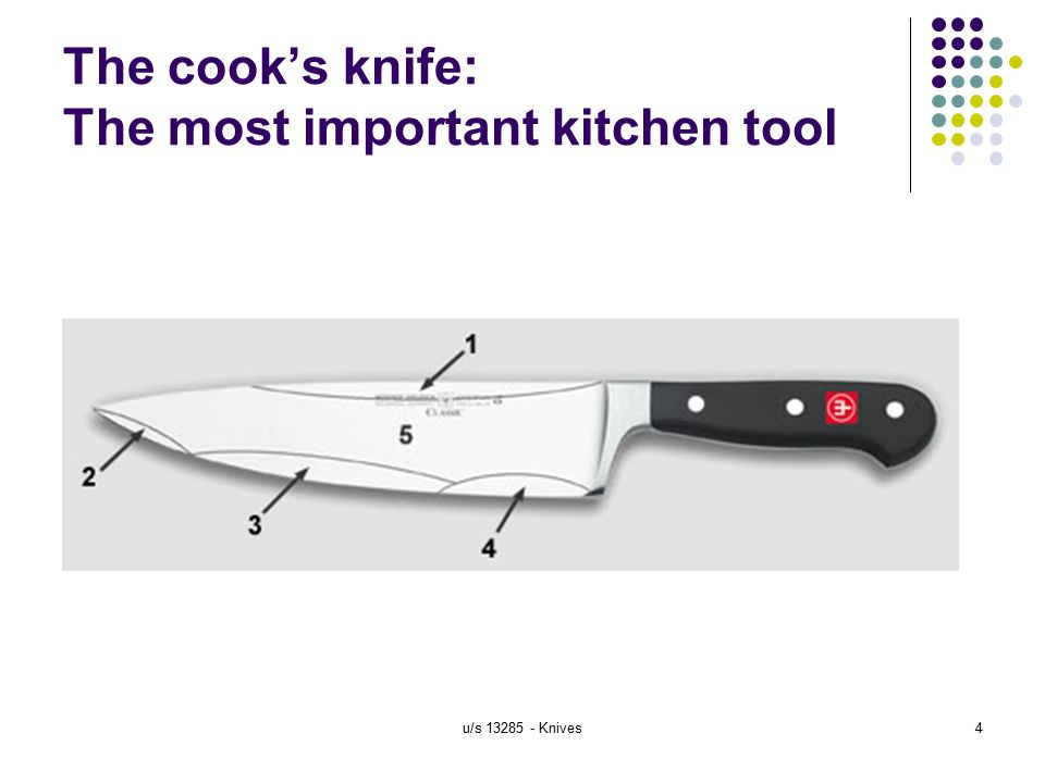 handle and maintain knives in a commercial kitchen level 2