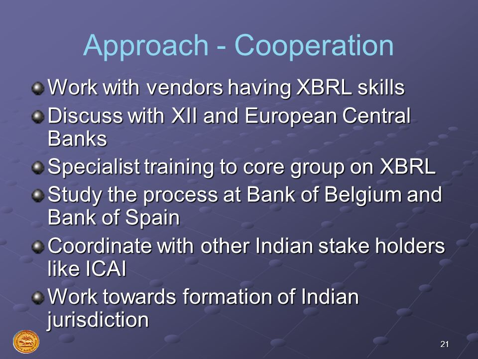 Approach - Cooperation