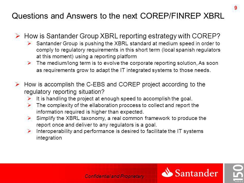 Questions and Answers to the next COREP/FINREP XBRL