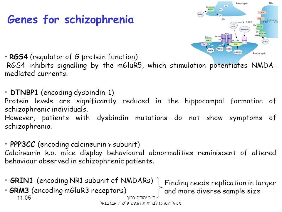 Genes for schizophrenia