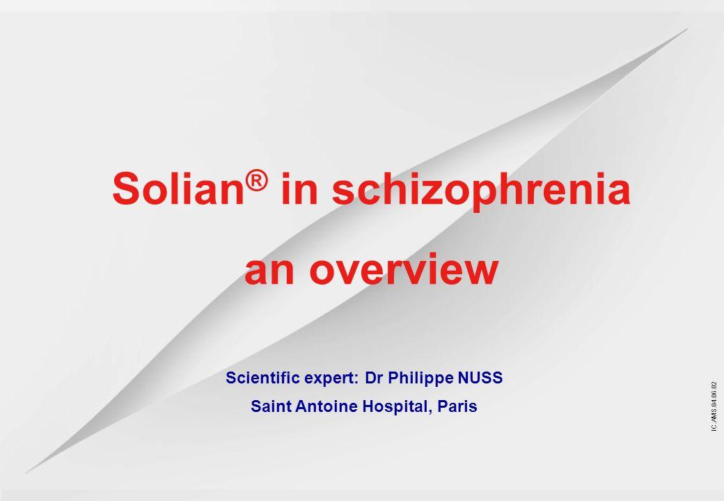 Solian® in schizophrenia an overview