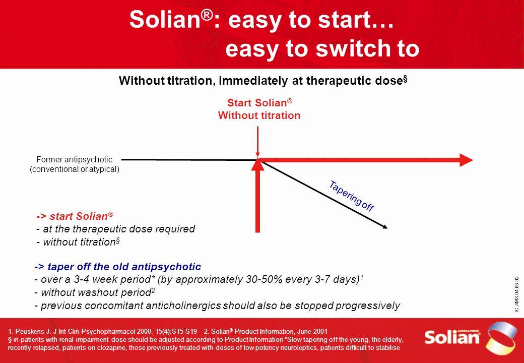 Solian®: easy to start…