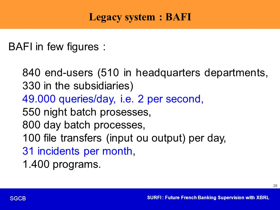 49.000 queries/day, i.e. 2 per second, 550 night batch prosesses,