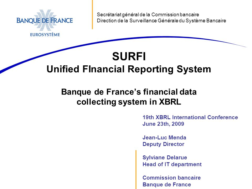 SURFI Unified FInancial Reporting System