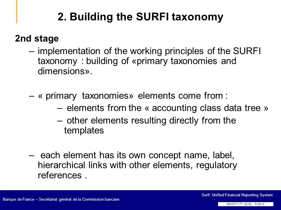 2. Building the SURFI taxonomy